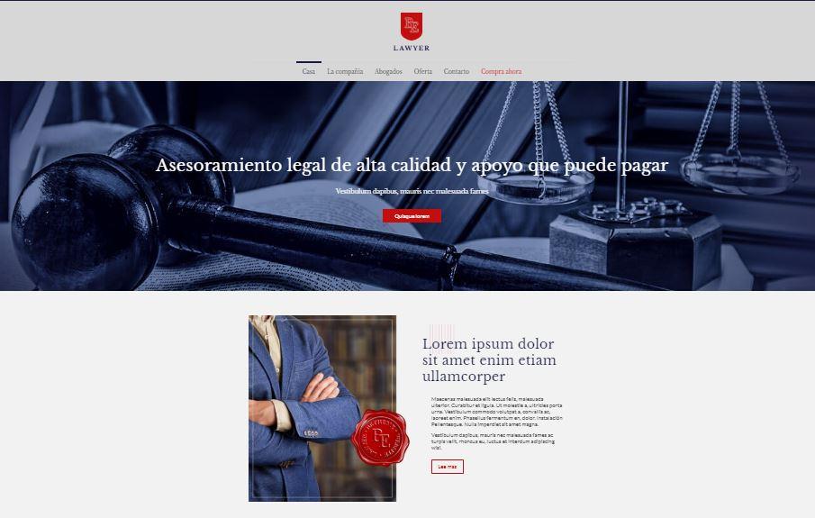 Página web para abogados bufete