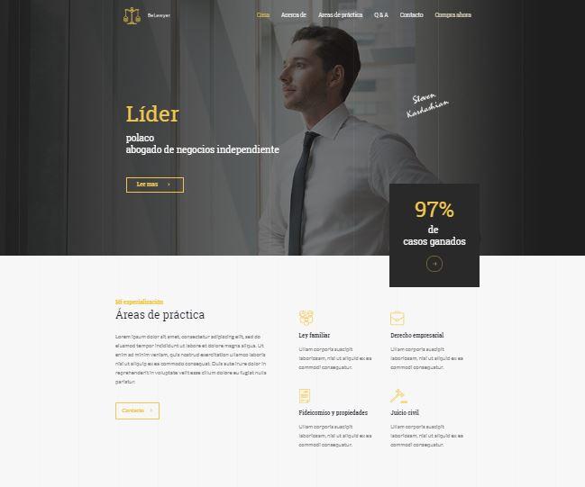 Página web para abogados freelance