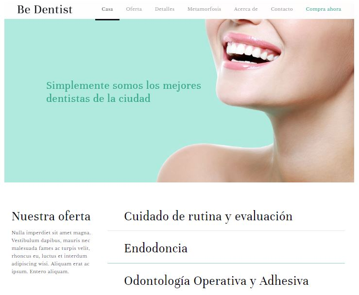 Web para clínicas dentales