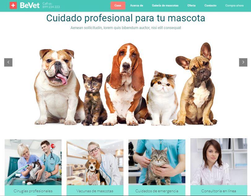Web para clínica veterinaria