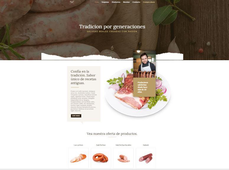 web-para-chef